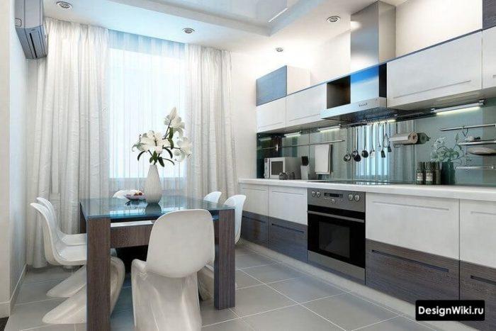 дизайн кухни с балконом 12 кв м