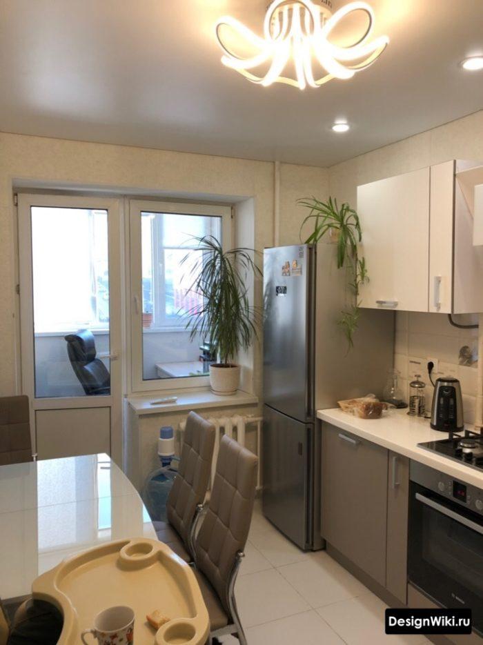 дизайн кухни 10 квадратных метров с балконом