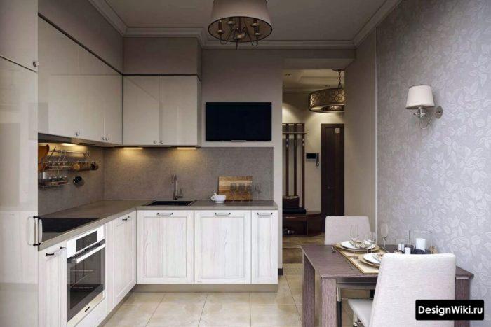 дизайн кухни 10 кв м в современном стиле