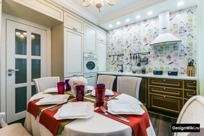 дизайн кухни 10 кв м новинки с холодильником