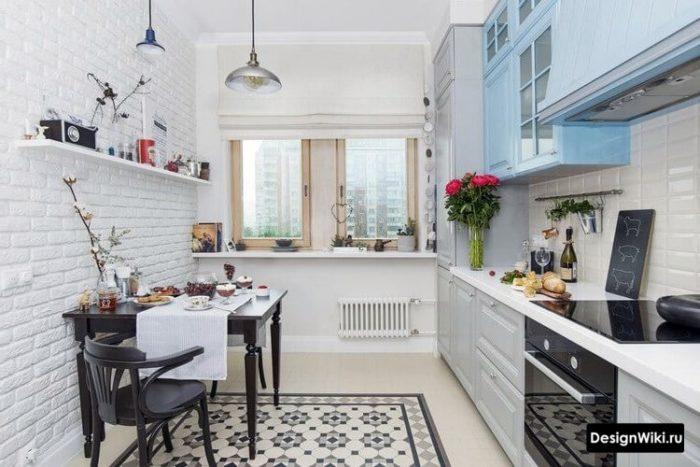 дизайн кухни 10 метров в скандинавском стиле