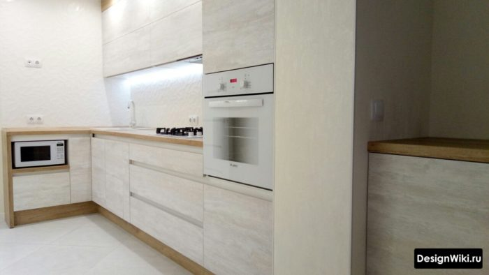 дизайн кухни 10 метров с балконом
