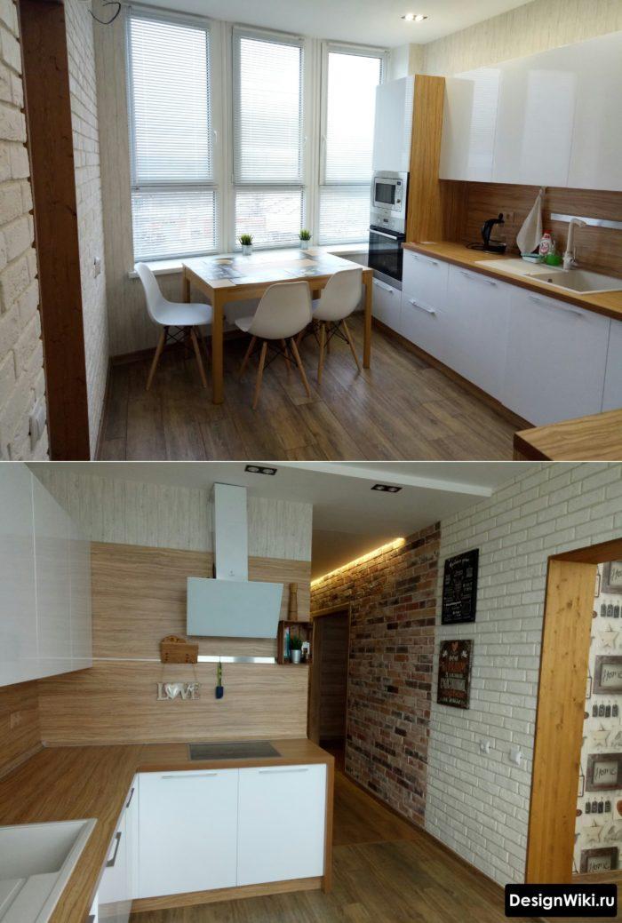 дизайн кухни 10 м2 с диваном