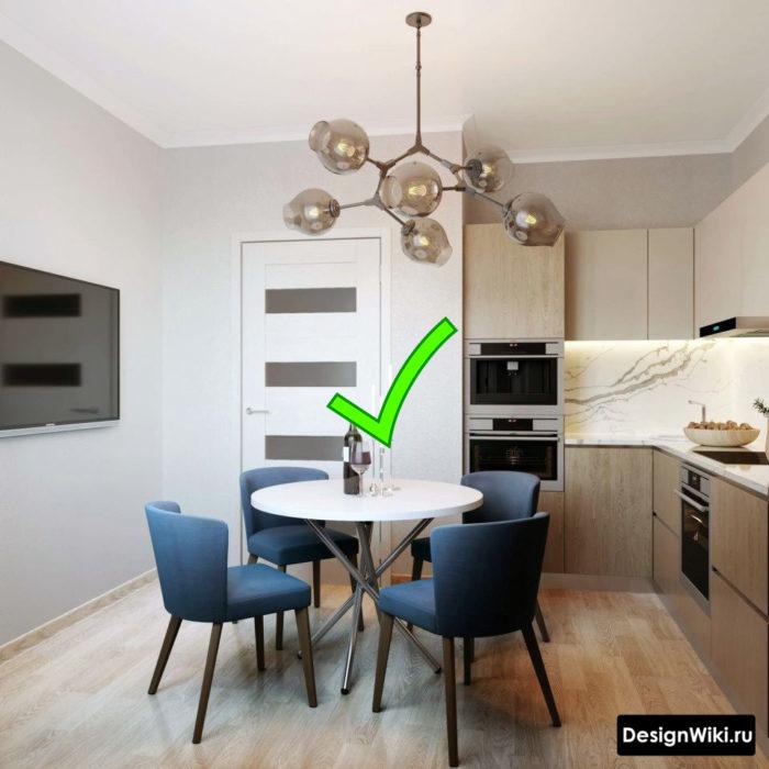 дизайн кухни 12 квадратных метров квадратная