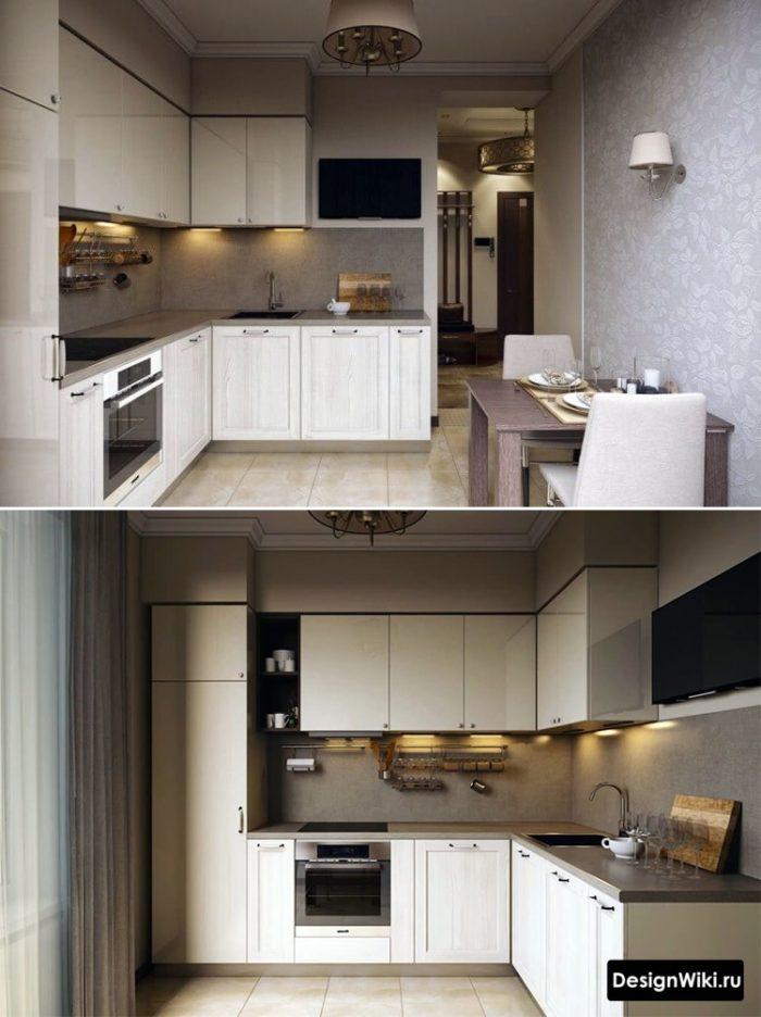 дизайн кухни 12 квадратных метров прямоугольная