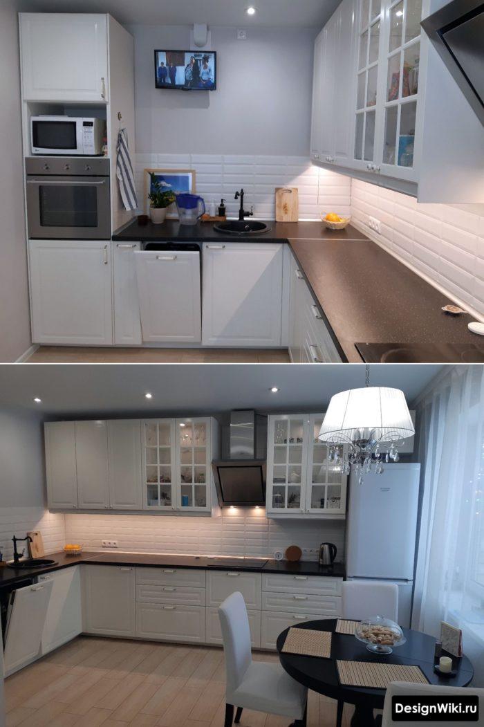 дизайн кухни 12 кв.м с окном