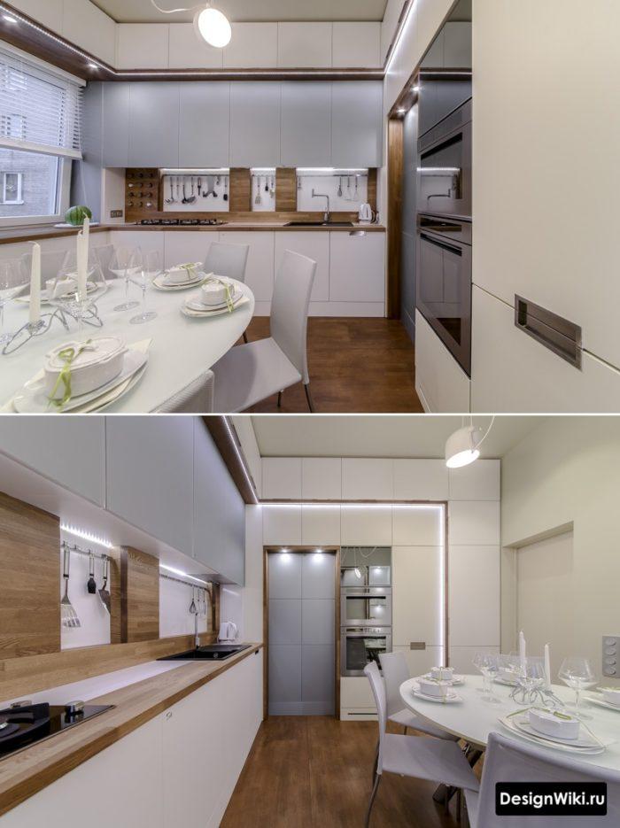 дизайн кухни 12 метров с диваном