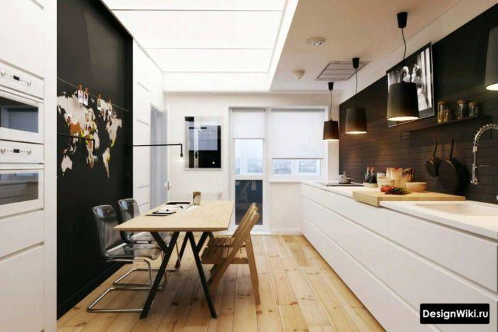 дизайн кухни 12 м2 с балконом