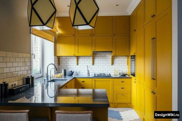 дизайн кухни 2 на 4 метра с окном
