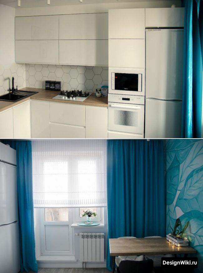 дизайн проект угловой кухни 12 кв м