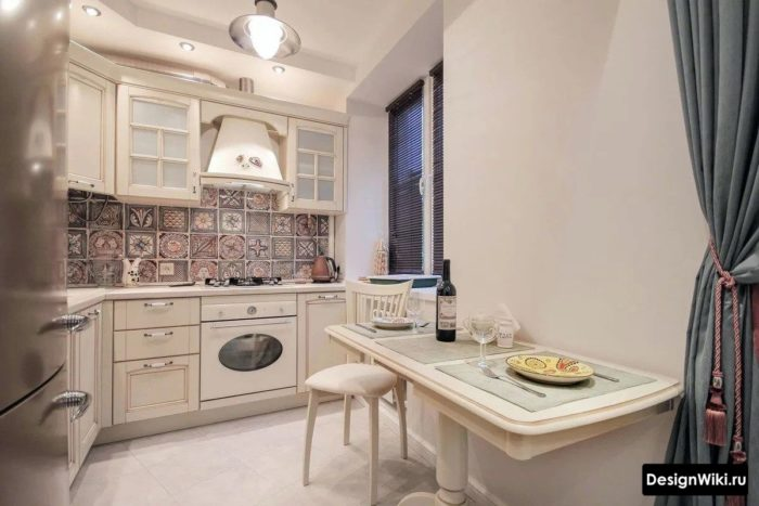 дизайн прямоугольной кухни 10 кв м