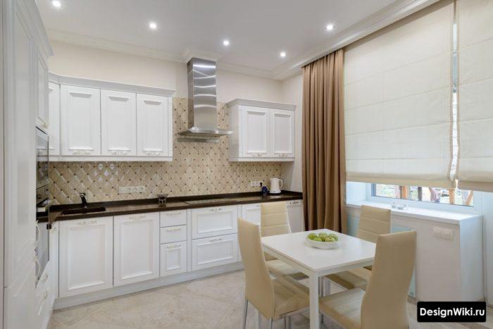 интерьер кухни гостиной 12 кв м