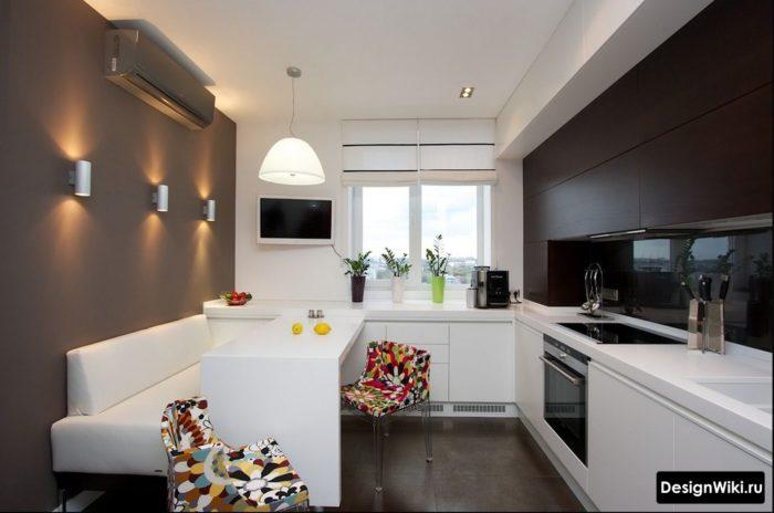 интерьер кухни 12 кв м в современном стиле