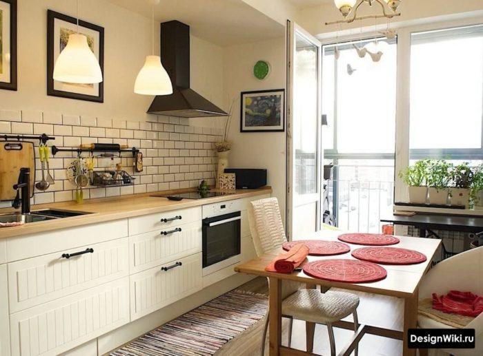 интерьер кухни 12 кв м прямоугольная