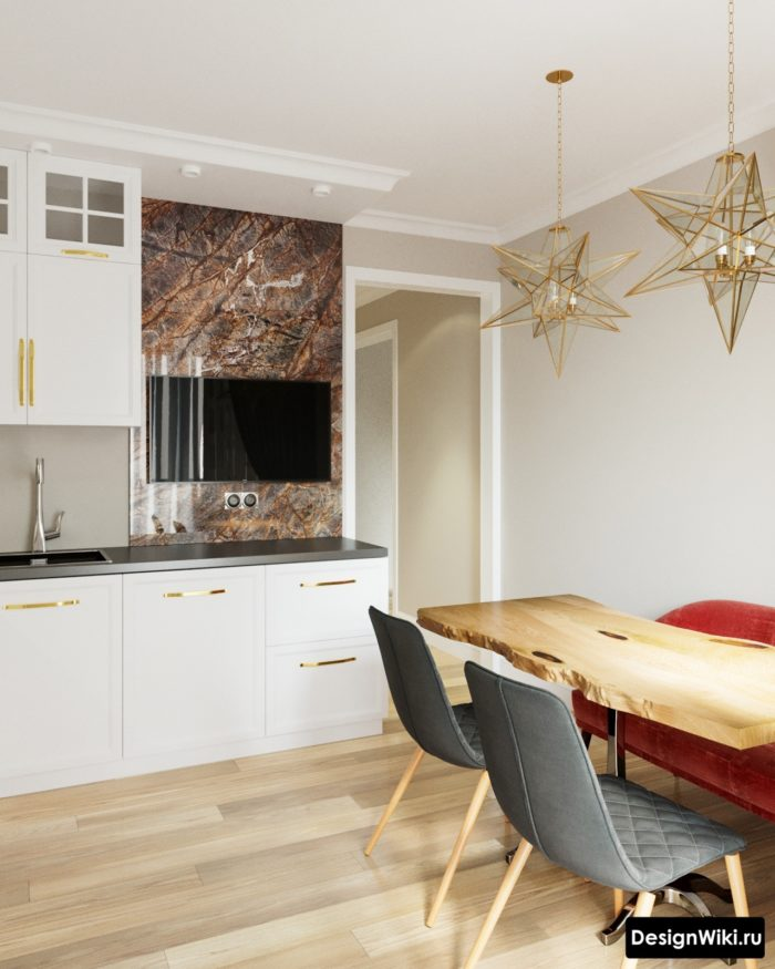 квадратная кухня 10 кв м дизайн