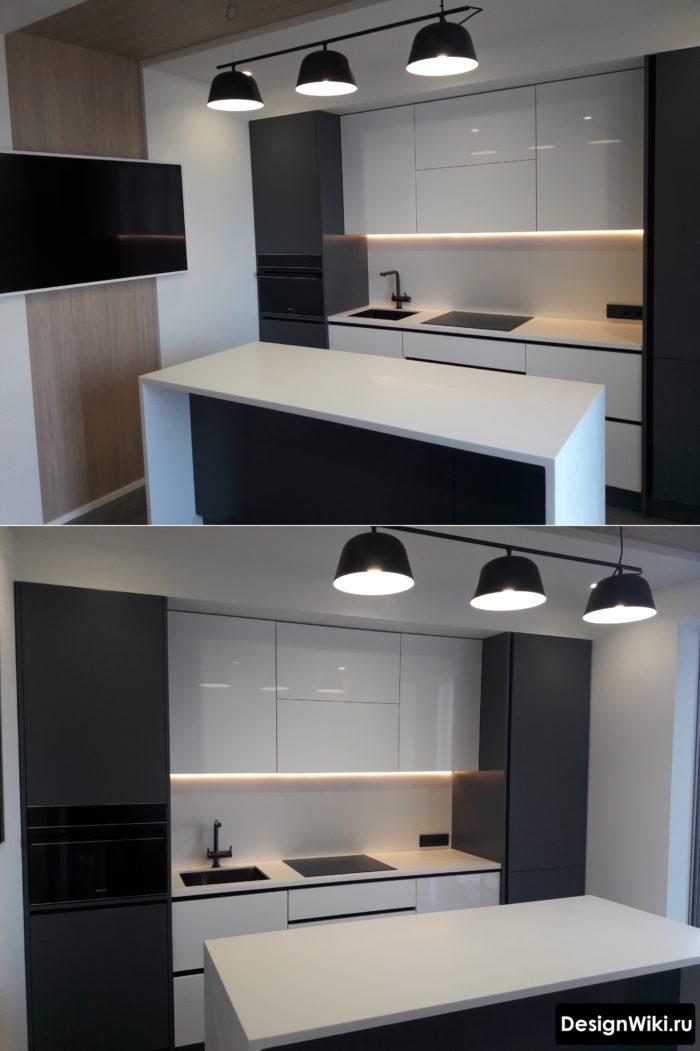 кухни в стиле хай тек в реальных квартирах