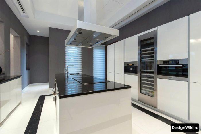 кухни студии в стиле хайтек в частном доме