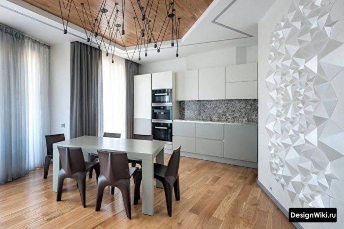 кухня в стиле хай тек на 12 кв