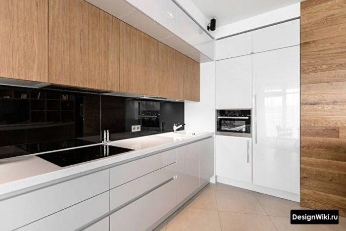 кухня в стиле хай тек на 9 кв