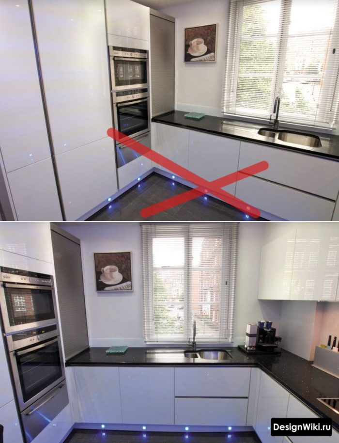 кухня в стиле хай тек 8 кв