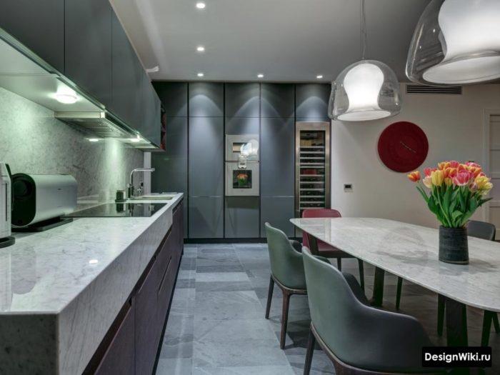 кухня в стиле хай тек 9 кв