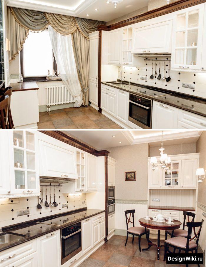 кухня гостиная 10 метров дизайн