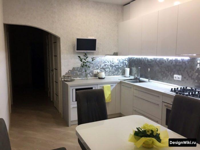кухня гостиная 12 кв м планировка