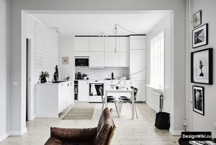 кухня гостиная 12 кв м
