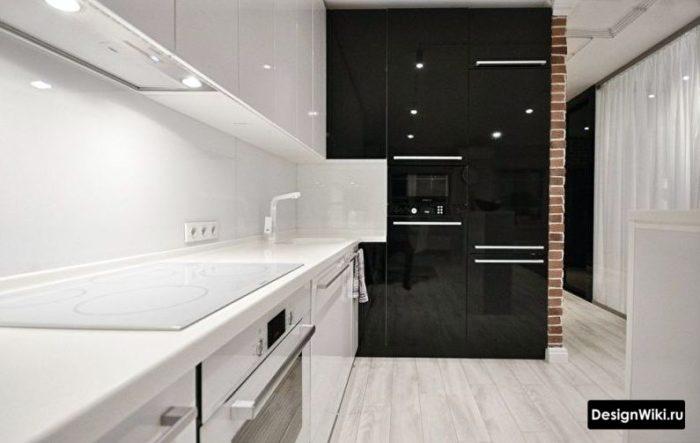 кухня дизайн интерьер хай тек