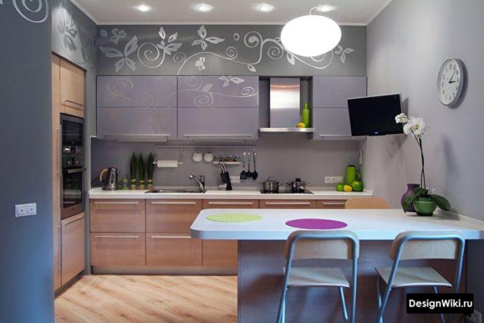 кухня дизайн интерьер 10 кв