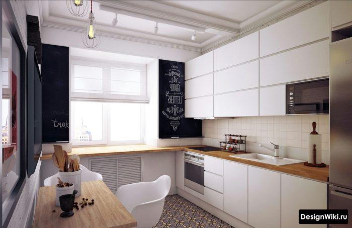 кухня дизайн интерьер 12 кв метров прямоугольная