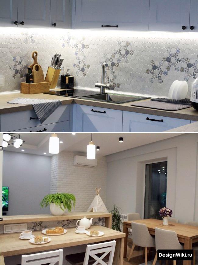 кухня с балконом 12 метров идеи дизайна