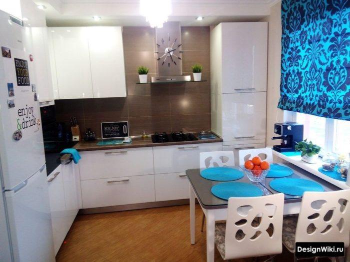 кухня 10 кв метров дизайн