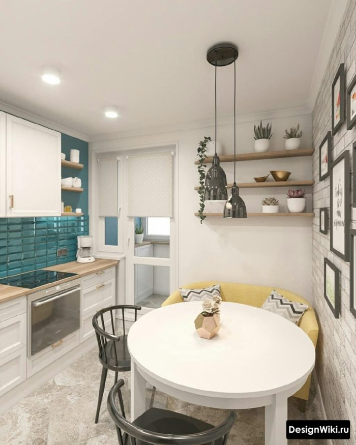 кухня 10 кв метров с балконом