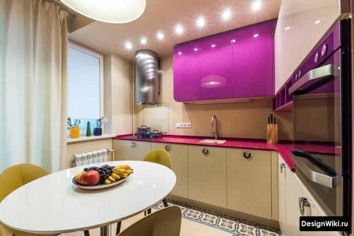 кухня 10 кв м с балконом