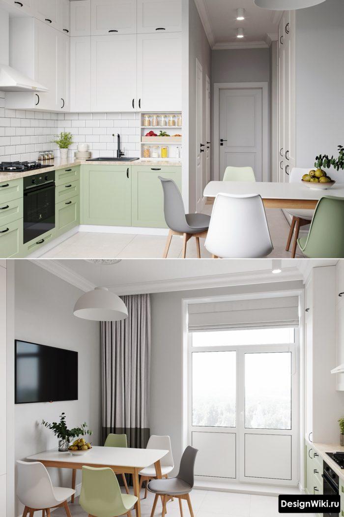 кухня 10 метров со столом вместо дивана