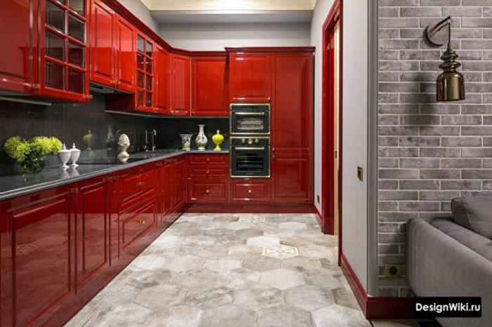кухня 12 кв м дизайн с диваном и телевизором