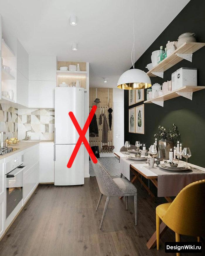 кухня 12 кв м с диваном