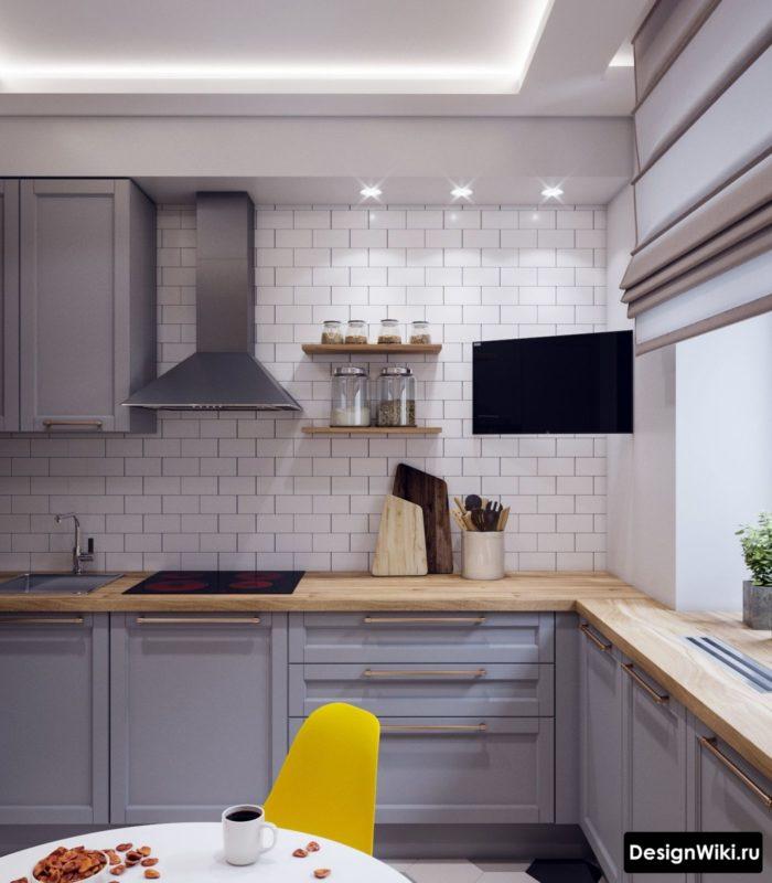 кухня 4 на 3 метра дизайн