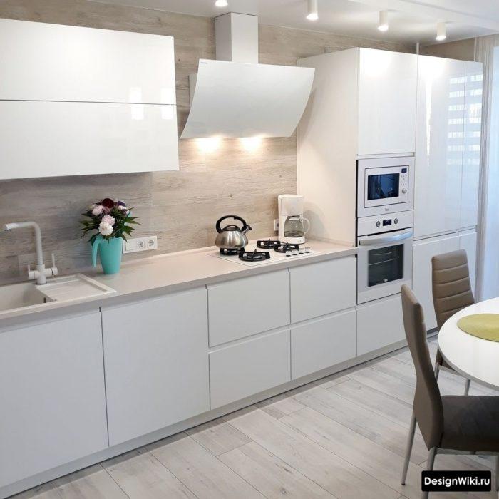 линейная прямоугольная кухня 12 кв метров