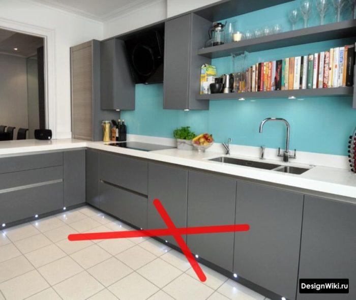 ошибка в дизайне кухни в стиле хай-тек