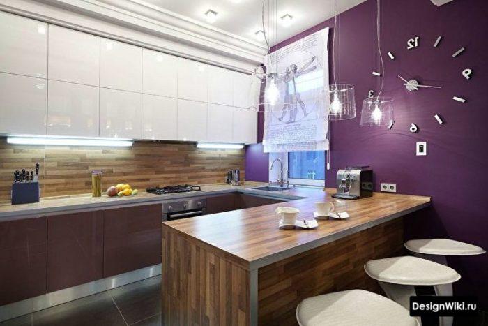 планировка кухни 10 кв м квадратная