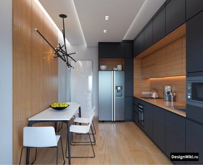 светильник в стиле хай тек на кухне