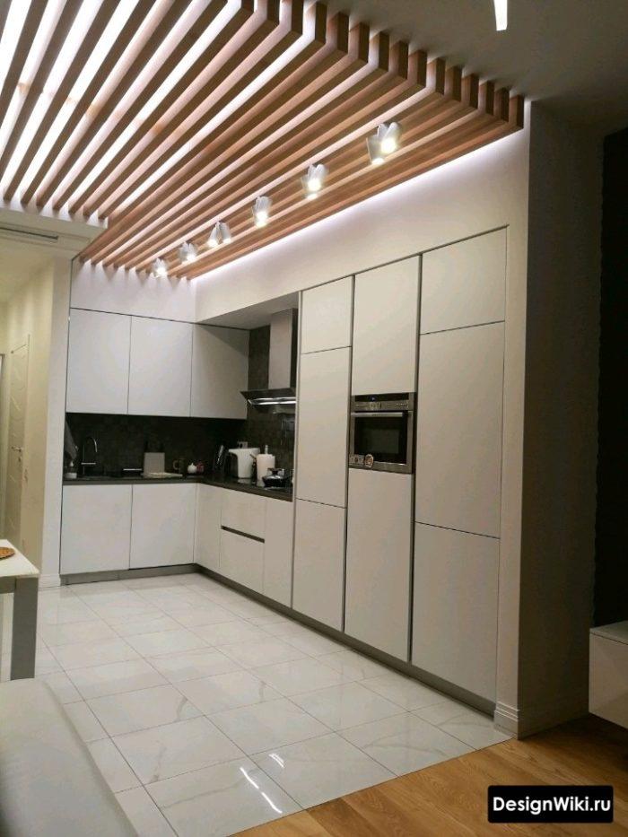 стиль хайтек в интерьере квартиры кухни