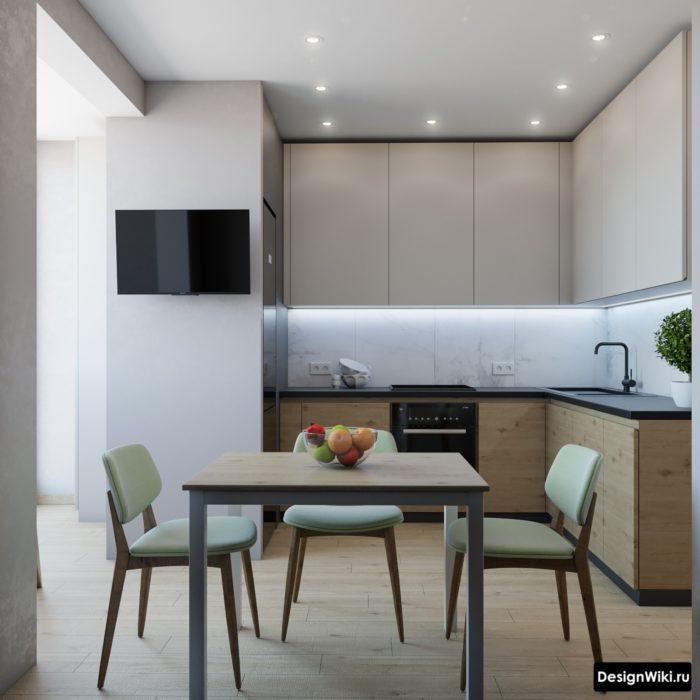 угловая кухня 10 кв м