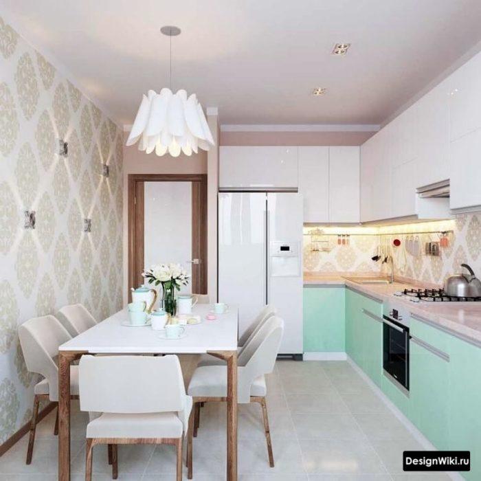 угловые кухни 10 кв метров