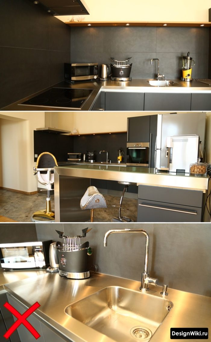 хай тек в интерьере кухни