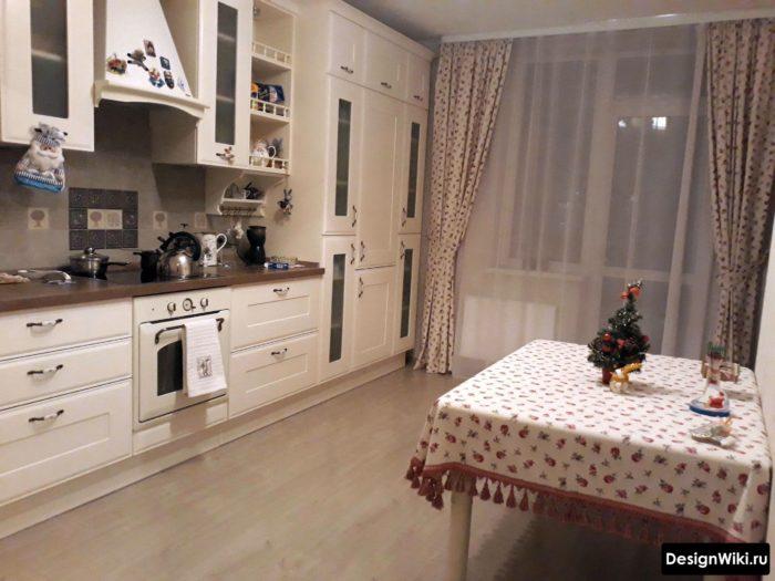 шторы и тюль в кухне 12 кв.м