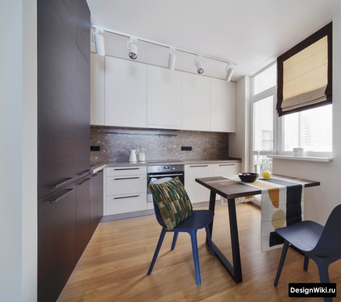 кухни в сером цвете дизайн