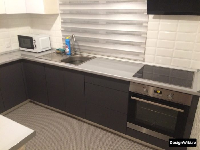 кухни в серых тонах в современном стиле